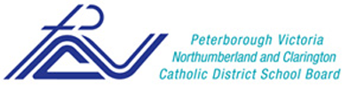 Catholic School board logo. A stylized P incorporates the cross the V,N,C.