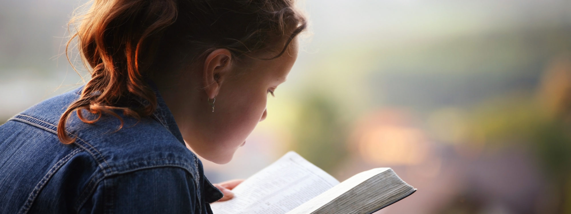 student reading bible