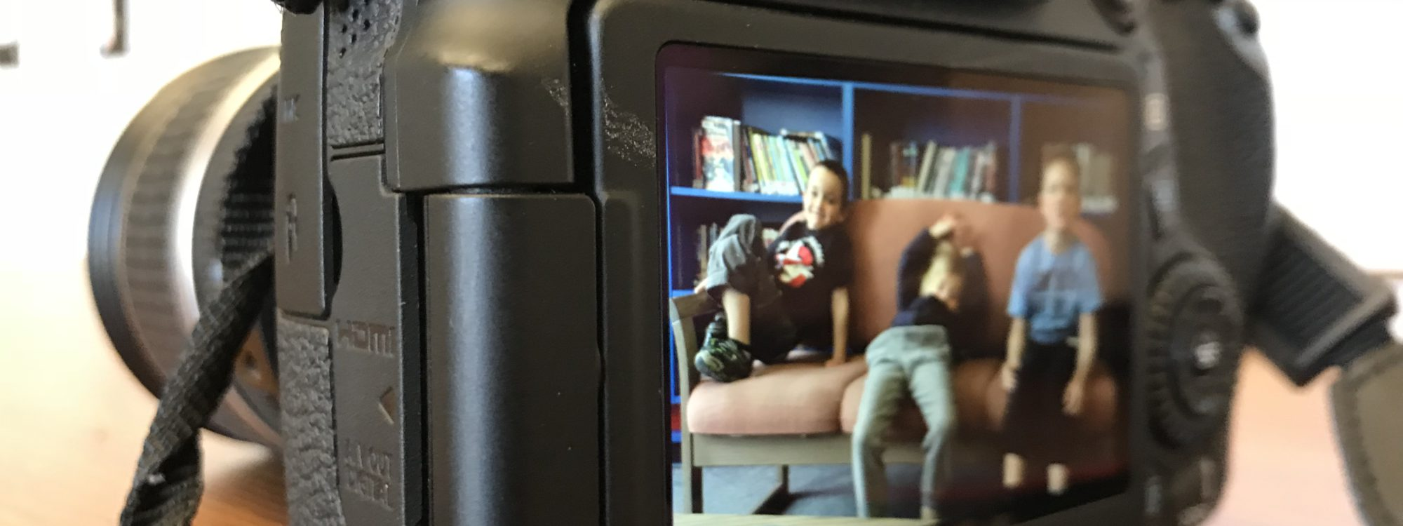 close up of a camera's screen