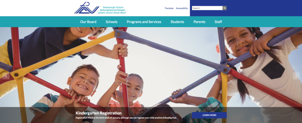 Screen Grab of new PVNC Website