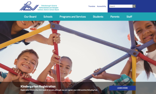 Screen Grab of new PVNC Website