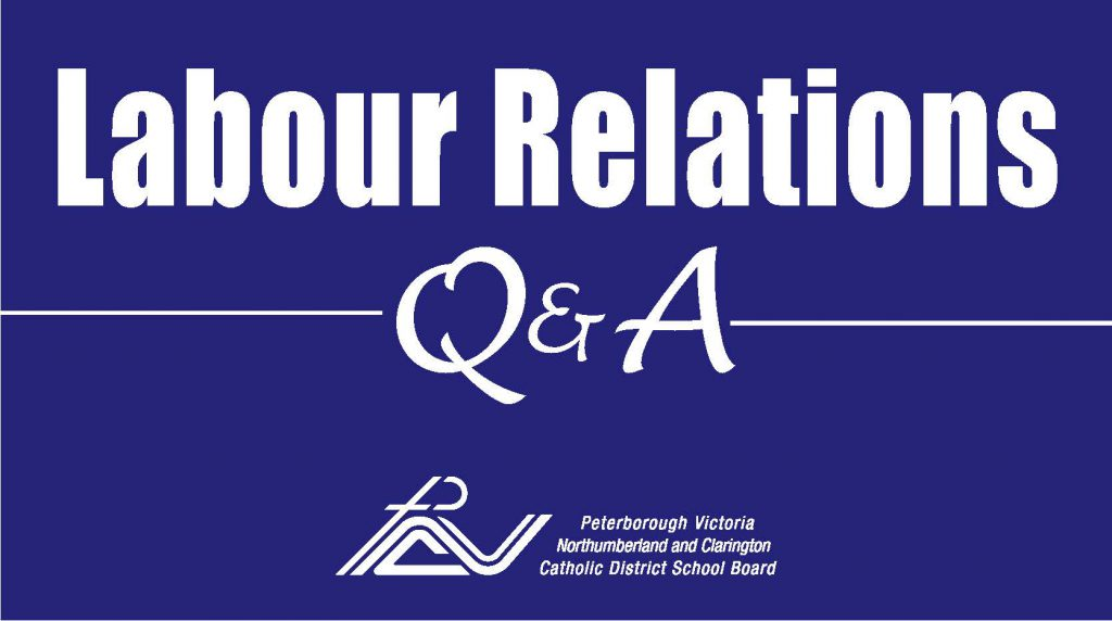 Labour relations Q and A notice