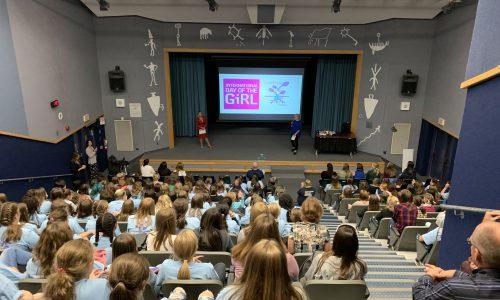 female students attending seminar