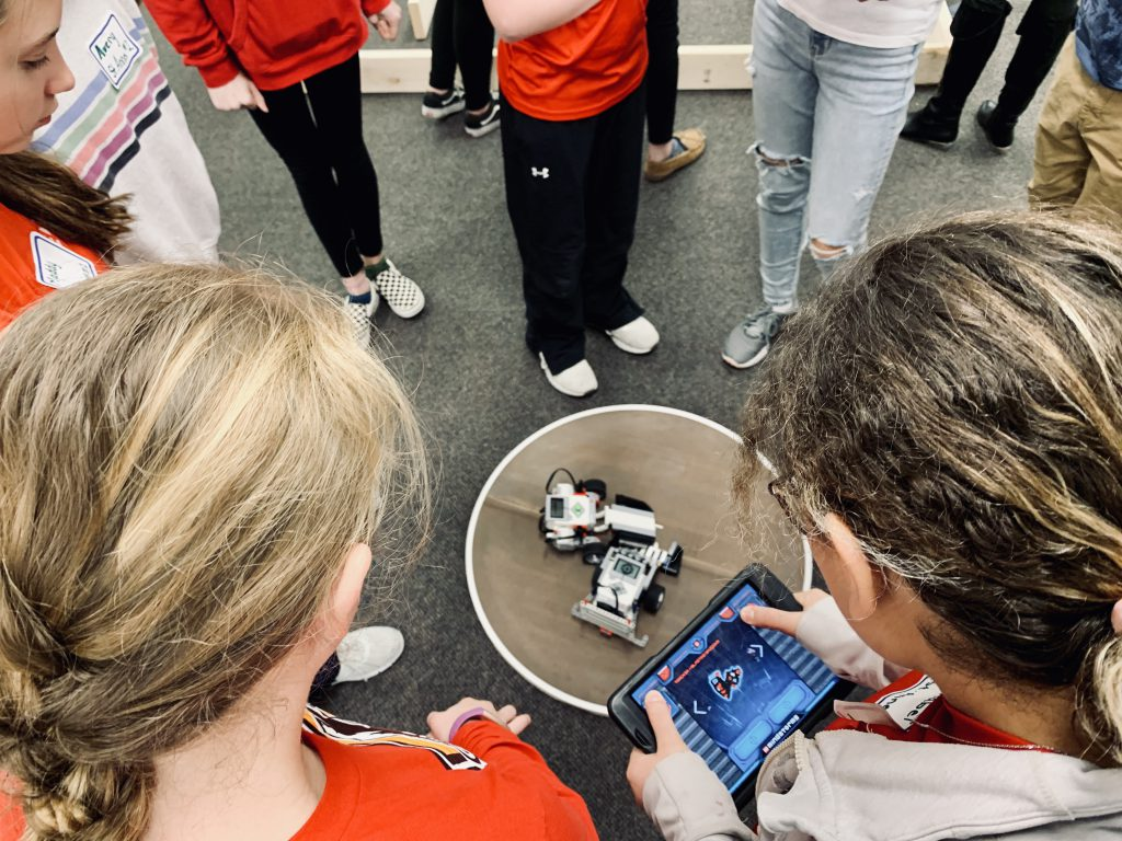 students competing in Robotics Competition