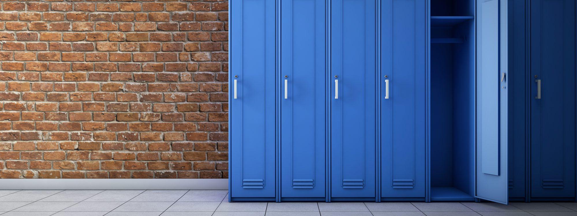 Bay of Blue School Lockers