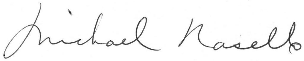 signature of Michael Nasello