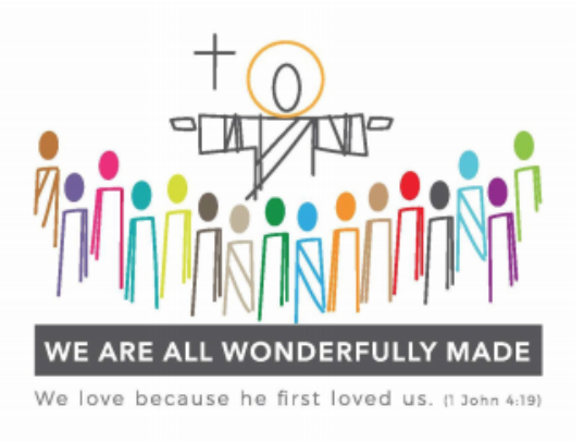 Image of Jesus embracing people