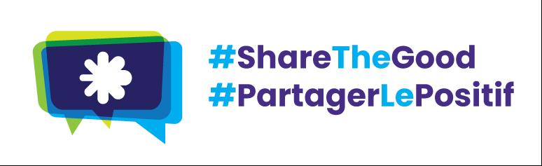 Graphic displaying the phrase #SharetheGood