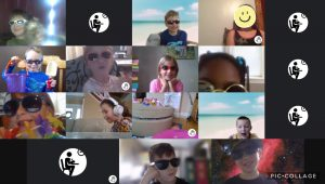Screengrab of virtual school learning